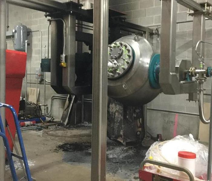 Machine Bursts into Flame at Local Business Warehouse