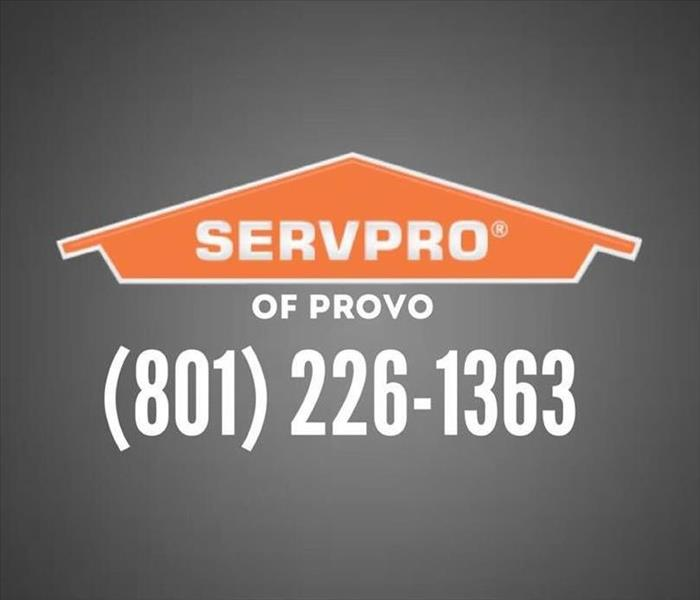SERVPRO logo with phone number