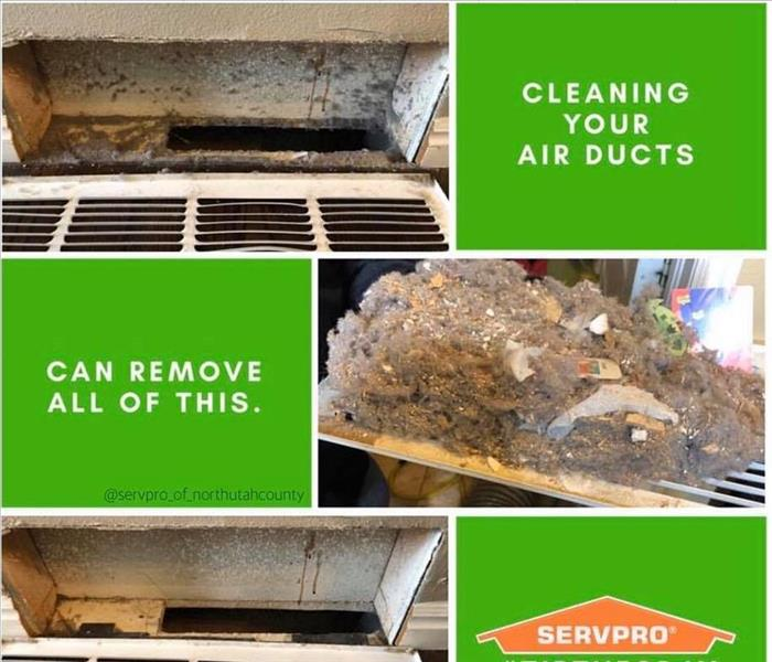 dirt and dust from cleaning the ducts